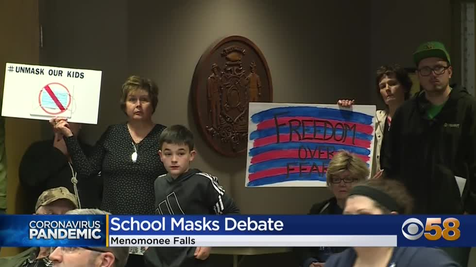 Some Menomonee Falls parents call for end to school mask mandate